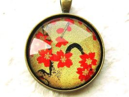 Cherry Blossoms Pendant by souzoucreations