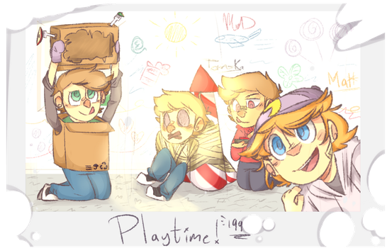 Eddsworld - Playtime! by Deviant-MankDemes