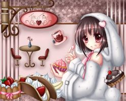 Holly Bunny: Tea Time by Eranthe