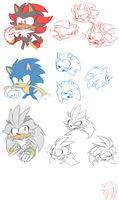how do I draw these hedgies by 8-Xenon-8