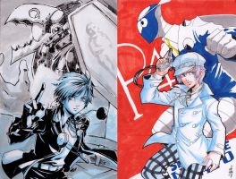 OzineFest'12 Artcontest entries D1 and D2 by ryuuen