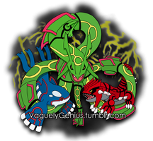 Rayquaza, Kyogre, and Groudon - Hoenn Remake Ahoy! by vaguelygenius