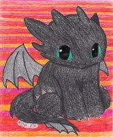 Baby toothless by ZNwolflove
