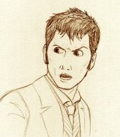 The Doctor - all sketchy like by kelly42fox