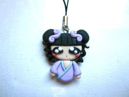 Anime Girl Phone Charm by FlamingChickCreation