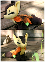 Fall Kitsune Plushie by FollyLolly
