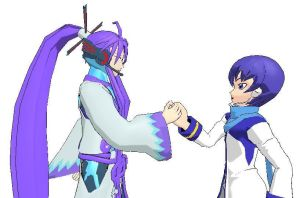 Kaito and Gakupo by enitul