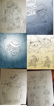 Little Nightmares doodles -6- by Cageyshick05