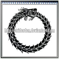 Tattoo Design 003 - Ouroboros by StriderDen