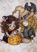 WSAVG0Y Krow and Sayo Halloween 2012 by Leto4rt