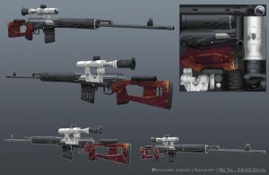 Dragunov SVD Sniper Rifle by Alemja