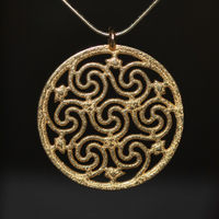 Celtic Seven Spiral Necklace by dfoley75