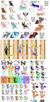 Mass Unsold Adopts - Free, DTA, and Points... by WolvesDestinyBlood