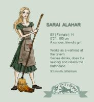 Sarai, the timid cleaner by CptNightingale