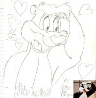 Pitu Le Pew First Attempt by LooneyArtist