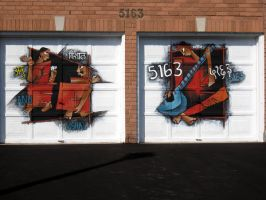 painted garage doors by vishalmisra
