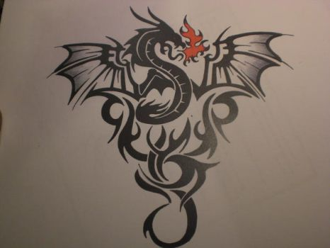 Dragon Tattoo Concept by midnightsun85