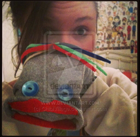 ME AND MY MR.FIZZLES PUPPET. by ChibiVillage