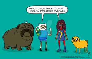 Adventure Time x Ms. Marvel by SparkstheComic