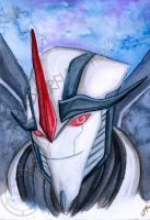 TFP: StarScream Watercolor portrait: by Lord-FurFur