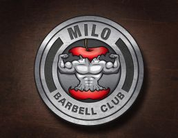 Milo Barbell Club Logo Concept by luke314pi