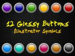 12 Glossy Buttons by Anya82