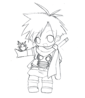 Golden Sun: Isaac sketch by Mesuneko