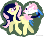 Paradise and Belle by pkmntrainerbritt