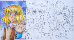 Touhou cards thingies by DemonedAway