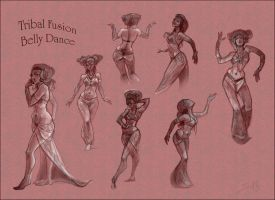 Tribal Fusion Belly Dance by newfka