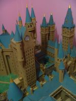 Hogwarts Castle Paper Model - DADA Tower by ana-wandmaker