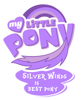 MLP Commission - Silver Winds is Bestpony by MLPBlueRay