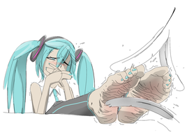 Dont Laugh Miku by PawFeather