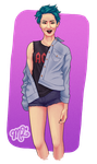 Trans Girl Chanyeol by MissLillyArt