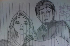 Rapunzel and Flynn Sketch by TaniPixie
