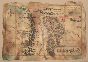 Wilderland Map From The Hobbit by timshinn73