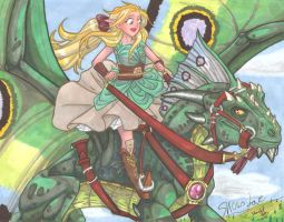 Flying on Green Dragons by equigoyle