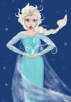 Elsa Frozen Drawing by AmyW23