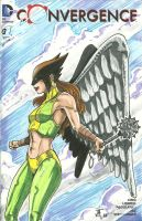 HawkGirl Sketch Cover Commission by comicfreak41691