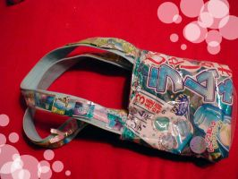 Ramune Candy Wrapper Purse by ExplodingIchigo