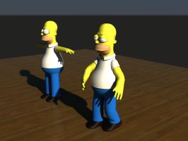 Homer simpson in 3D by bmw325ci