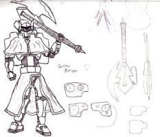 Guitar Knight concept by Cipher-Jin