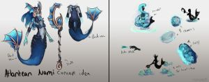Atlantean Nami skin concept and abilites by Hamzilla15