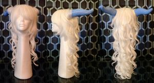 Draenei Shaman Wig and Horns by ChickenChopsticks