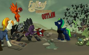 Commission: Fallout: Equestria: Outlaw by CaptainHoers