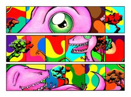 The Pink Dinosaur and... by Simanion