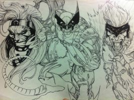 Wolverine and dead rivals by Tomuribecastro