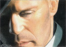 Jason Statham sketch card by jenchuan