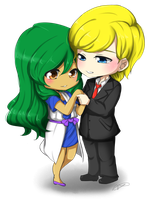 Chibi Commission: Lysander X Skownan by haeunee2
