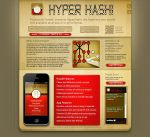 HyperHashi iphone app site by crezo